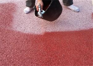果洛胶筑彩色透水石施工方案