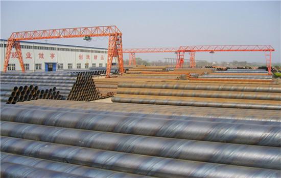 输水管道用Q235B螺旋钢管附工厂
