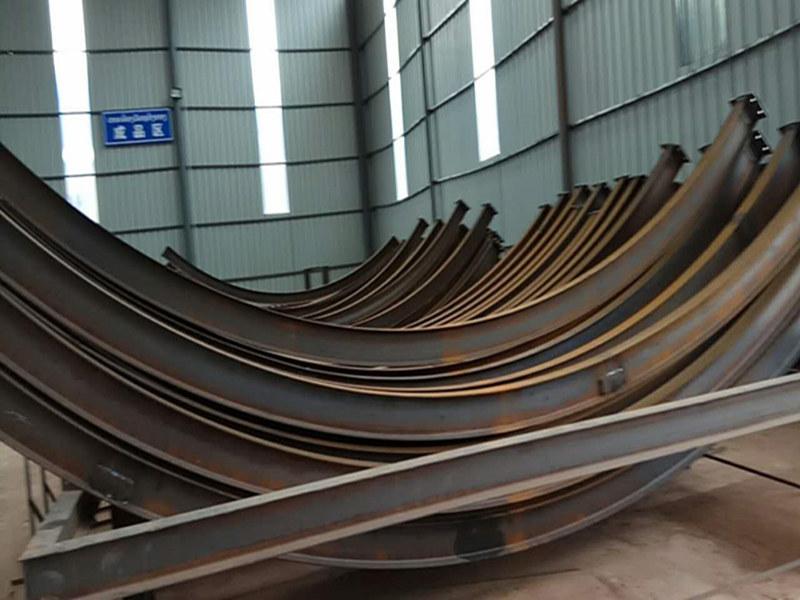 云南保山粮仓隧道350H型钢卷弯机厂家图片