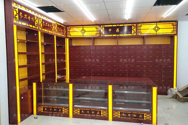 徐闻县实木中药柜全国送货安装粤美货架