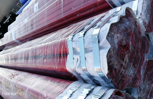黟县内外环氧粉末涂塑复合螺旋管--厂家供货