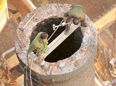 娄底市砖烟囱拆除公司——轮窑烟囱拆除多少钱