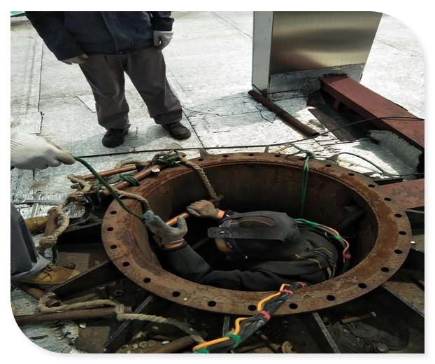 吸水管沉管安装——(滨州市水下施工