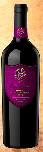 玉溪市紫灵魂克莱尔珍藏西拉红葡萄酒紫灵魂珍藏西拉赤霞珠红葡萄酒红酒葡萄酒多少钱一