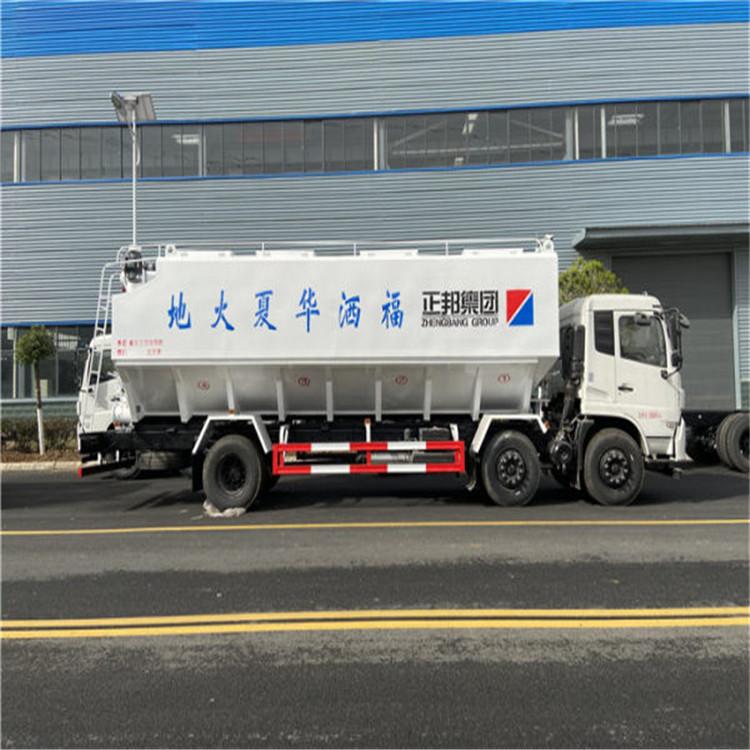 國六東風柳汽22方散裝飼料車專運飼料的運輸車輛