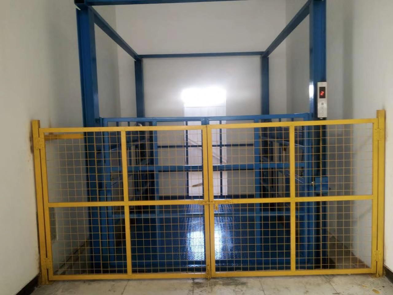 海南导轨升降机+室外升降货梯测量设计