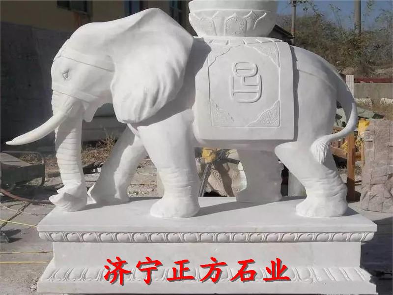 宁德吉祥如意石雕大象定制电话市场报价