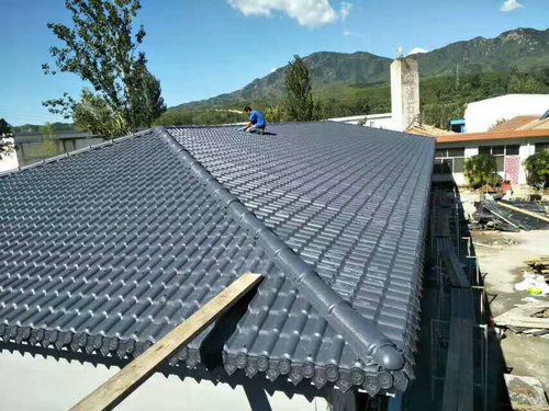 鄂州合成树脂瓦民房屋顶耐候美观