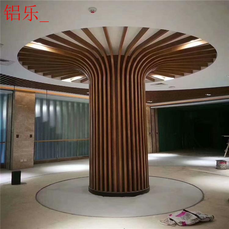 南谯商场铝单板包柱设计-铝乐建材
