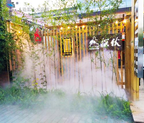 红河个旧小区冷雾景观装置