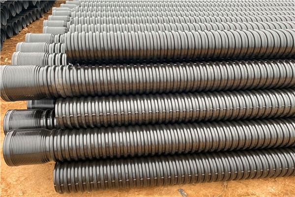 辽宁省盘锦市800钢带管生产厂家 小区排水hdpe钢带管