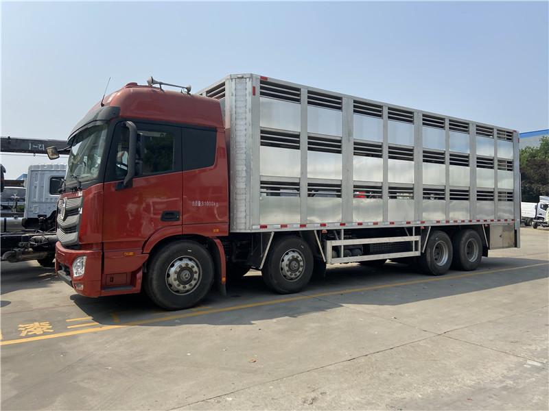 周口商水13米半挂家禽全铝合金畜禽运输车