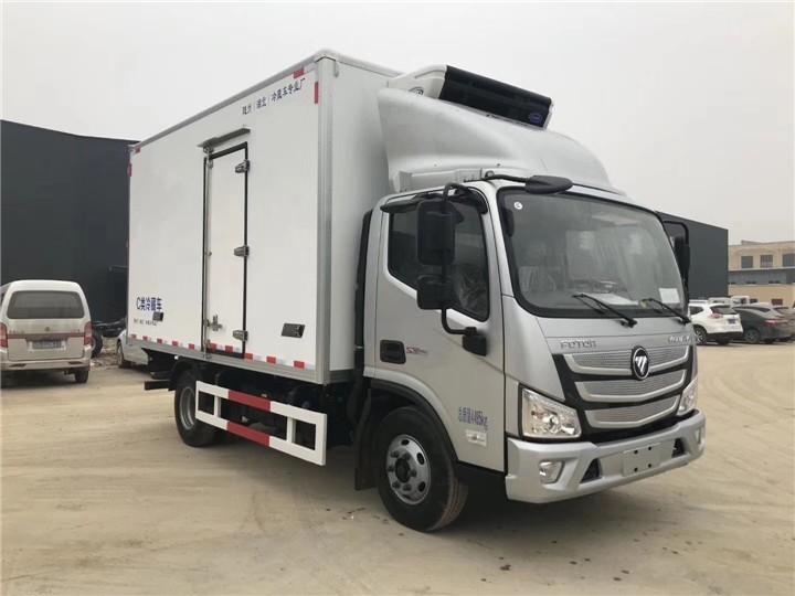 长岭东风天锦轴7.7米冷藏车车费用程力冷藏车厂家