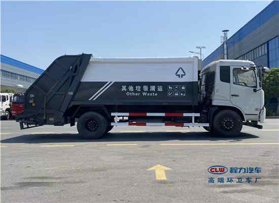 东风15方侧装挂桶式压缩垃圾保洁车厂家