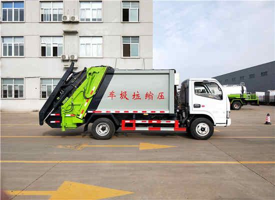 农村5吨国六后装压缩式垃圾转运车报价