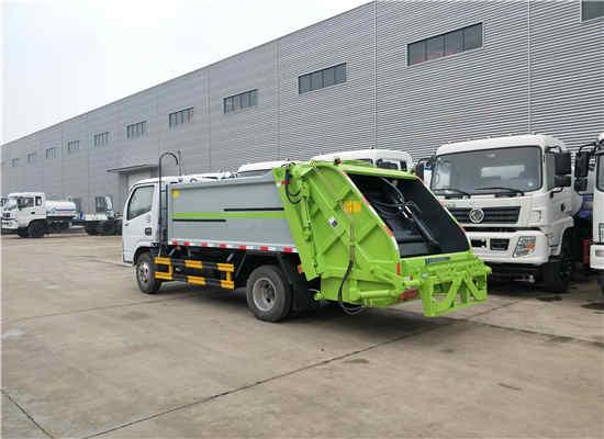 国六5吨自装卸式压缩垃圾保洁车价格