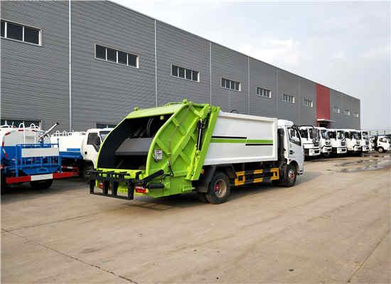 解放8噸社區環衛掛桶壓縮式垃圾清理車價格