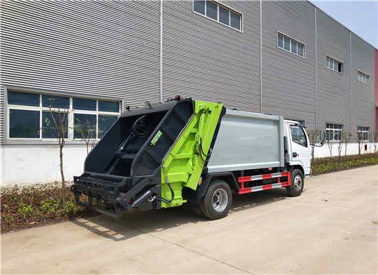福田5方环卫挂桶压缩式垃圾环卫车车型