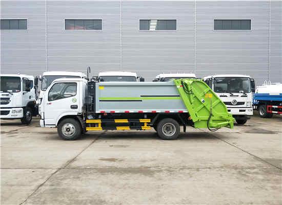 东风8吨后装压缩式生活垃圾环卫车车型