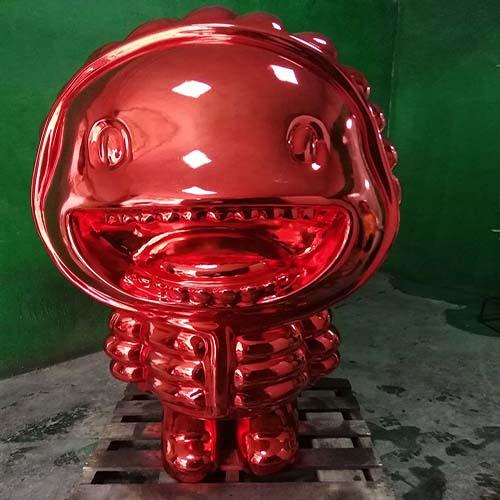 甘南雕塑厂家玻璃钢梅花鹿雕塑现货