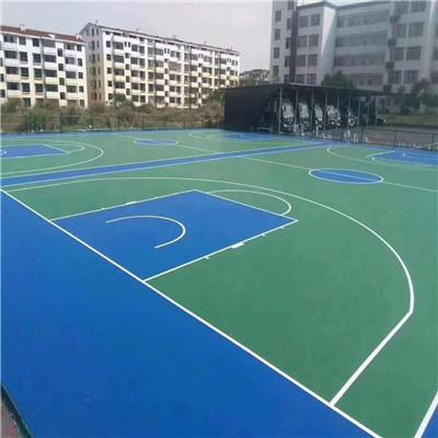 克孜勒苏柯尔克孜硅pu篮球场塑胶面层施工