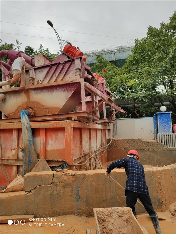 泥浆脱水设备绍兴现场施工图