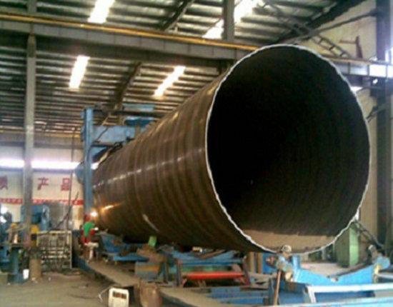 直径1100化工污水排放管采用Q235B螺旋焊接钢管厂家价格-巴音郭楞轮台