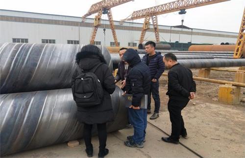 营口废水处理用螺旋焊管焊口