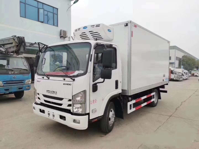 金普新区国六江铃顺达4.2米宽体冷藏车厂家底价促销