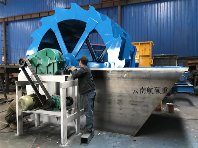 昆明轮式洗砂机白水工作原理与维护保养