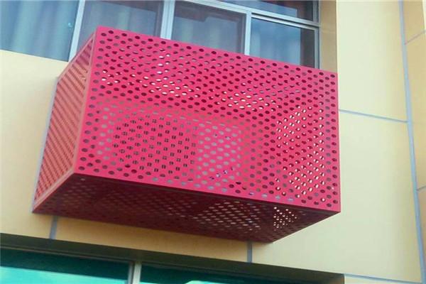 仲巴冲孔空调罩,街道改造空调罩铝乐厂家