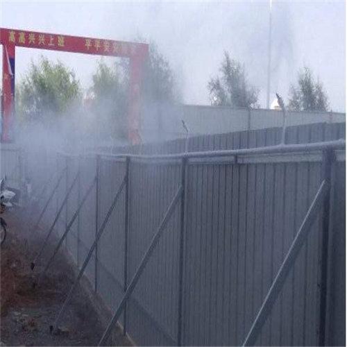 兴化工地围挡雾化喷淋系统施工工地围挡喷淋