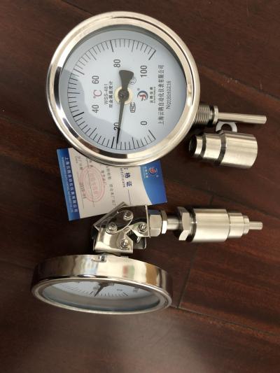 金沙WSS-480双金属温度计-80℃-500℃L=1000