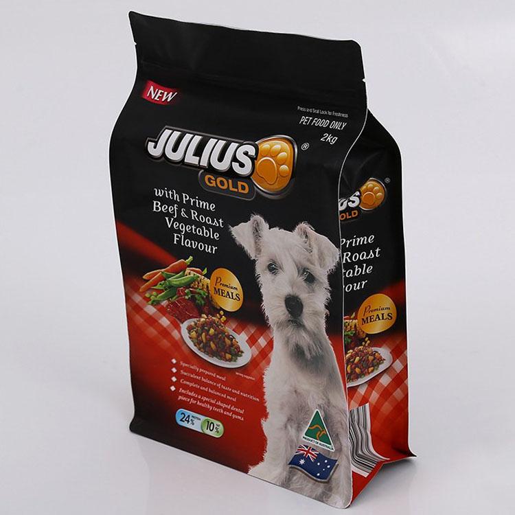 宠物食品八边封袋 八边封自立狗粮袋子厚度多少-厂家淮上德懋塑业
