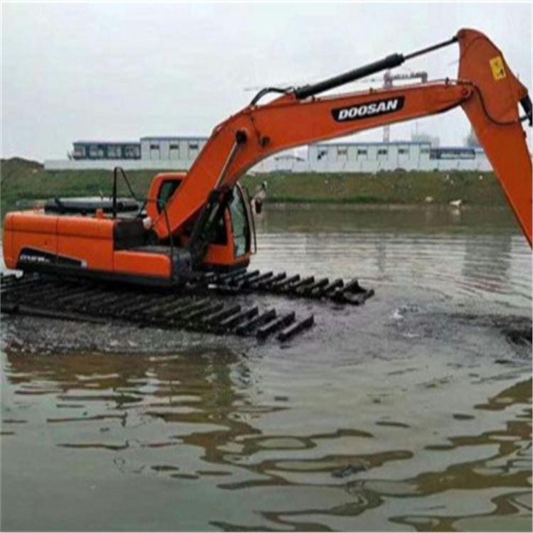 盘锦市水陆挖掘机出租联系我们