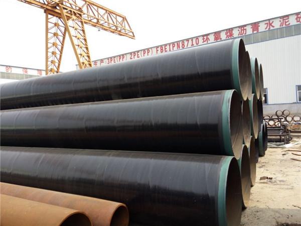 供水管道用三层聚乙烯涂敷直缝焊管出厂价格镇江