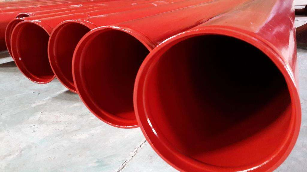涂塑螺旋钢管-涂塑钢管-生产厂家革吉