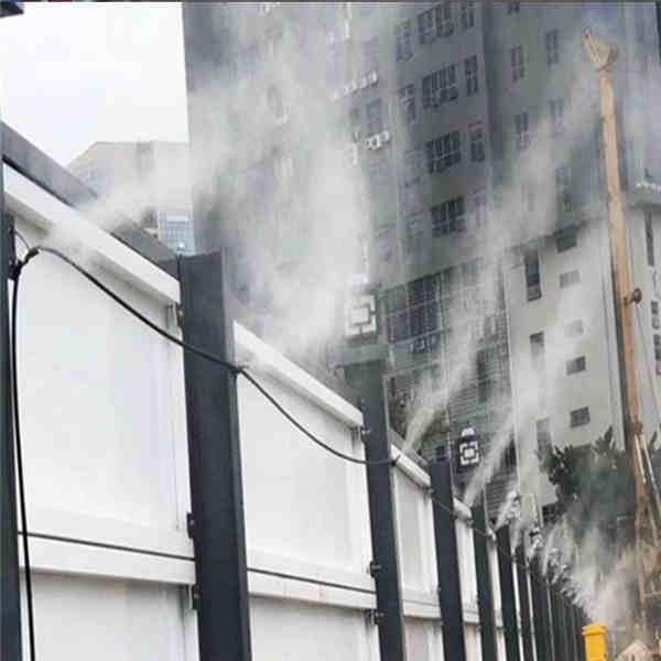 江西省宜春市造雾器厂房施工围挡喷淋在线咨询