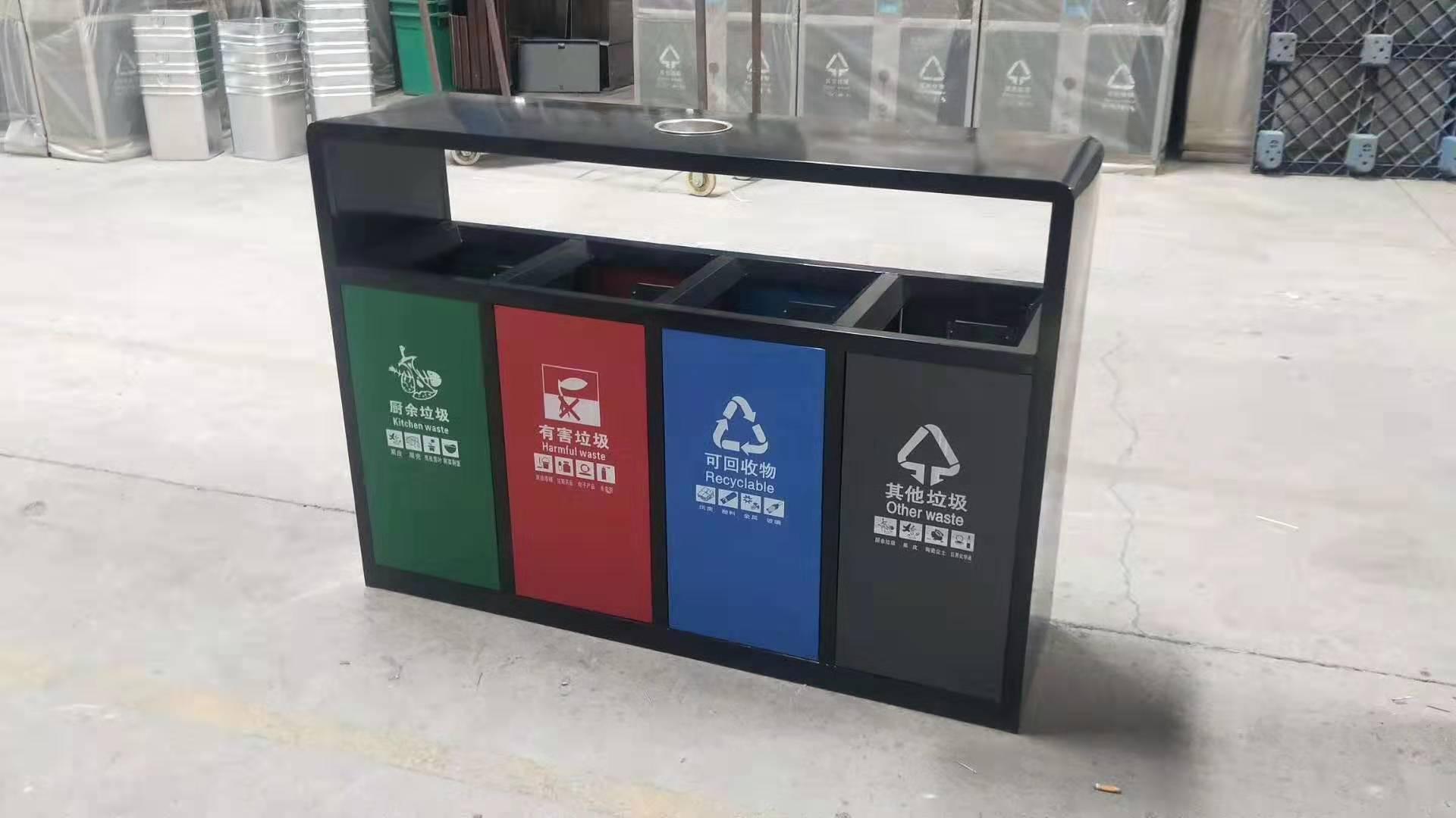 景德镇塑料垃圾桶厂家-环卫垃圾桶批发-西安鑫中星