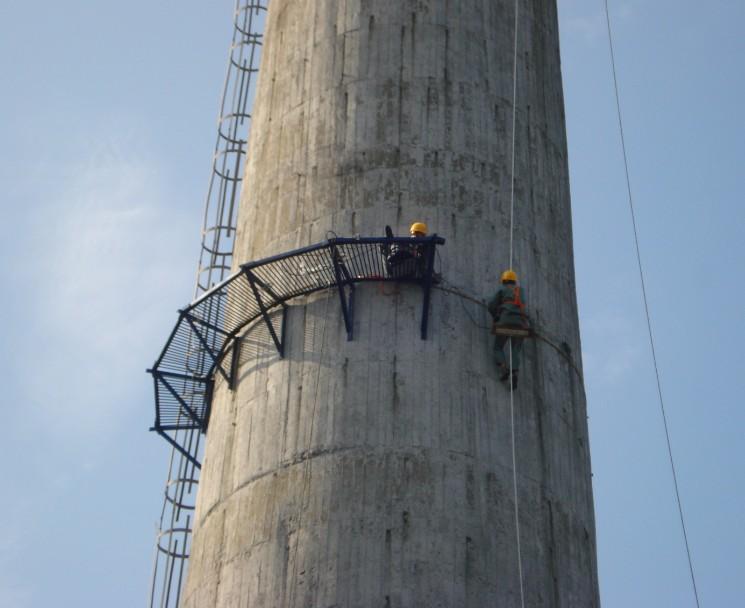 遵义湄潭水泥烟囱防腐公司——有经验的施工队伍