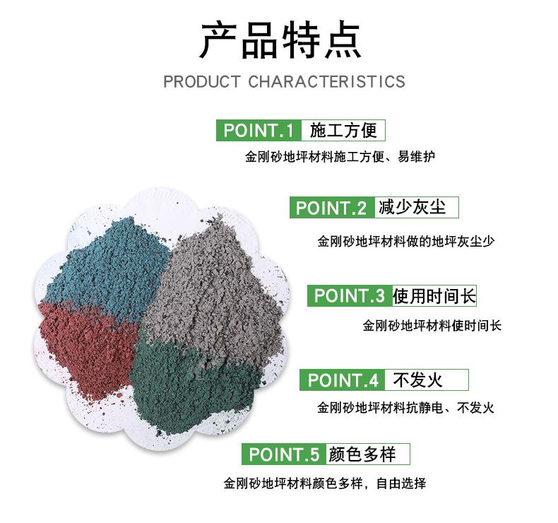 登封技术好的金刚砂耐磨地坪材料价格耐磨地坪金刚砂价格-正坤