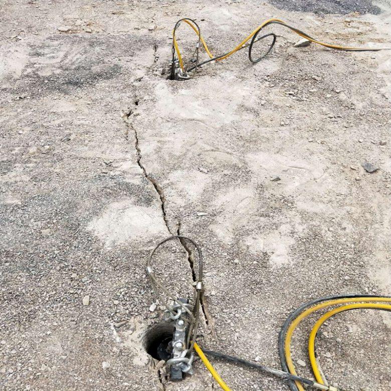 边坡岩石破拆电动劈裂机黄山屯溪