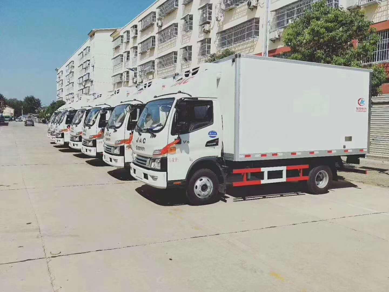 赣州市国六6.8米大型肉钩白条冷藏运输车大企业制造军工品质全国可售后