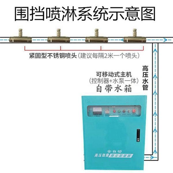 承德 全自动围墙围挡喷淋系统/厂房围墙喷雾降尘系统