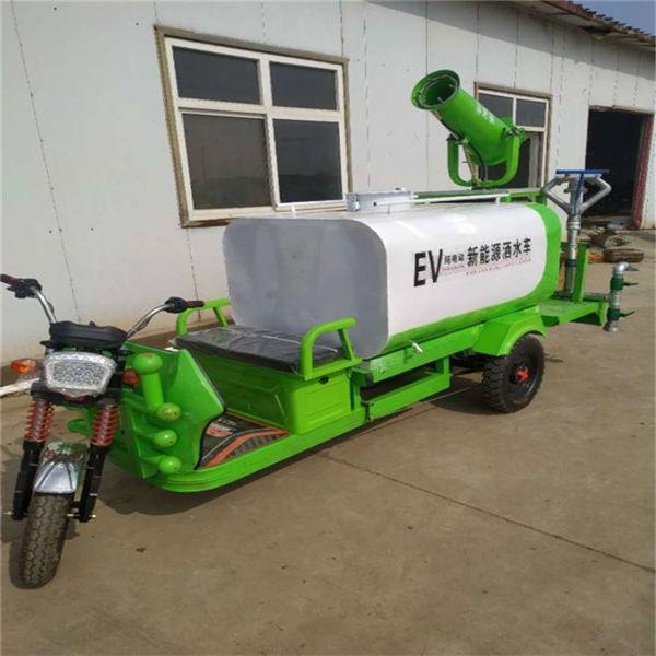 池州 小型电动三轮洒水车洒水雾炮车 环保工地雾炮洒水车