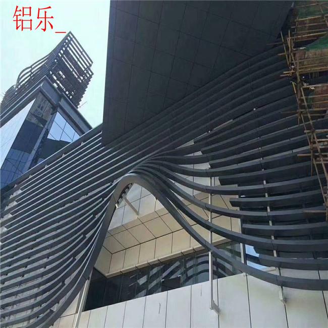 天津蓟县弧形铝板包柱型号齐全-铝乐建材