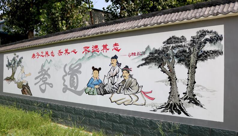 新县文化墙彩绘 电表箱墙绘的公司