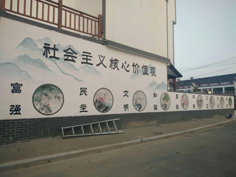 鄂州车库涂鸦|美丽乡村彩绘图片