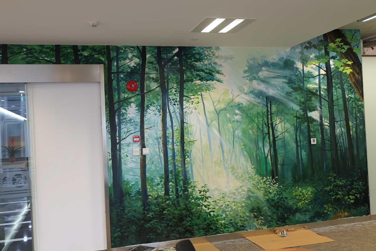 聊城儿童游乐场墙绘|车库墙绘图片