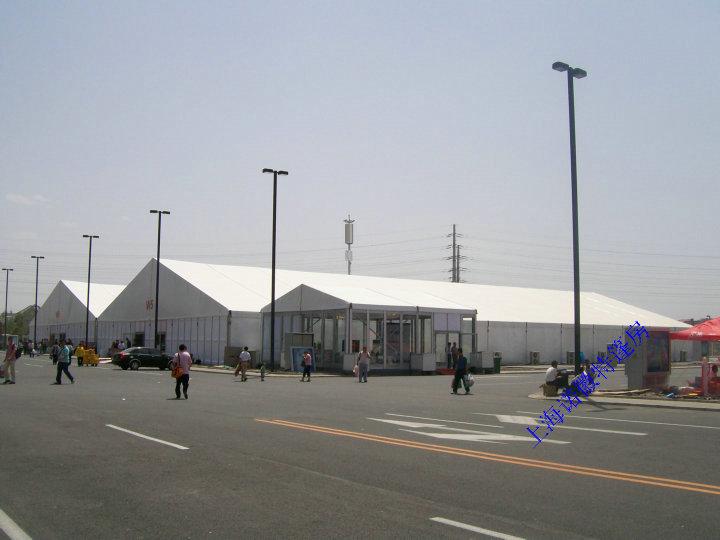 周口红色大篷房租赁搭建哪个厂家有50米跨度蓬房出租的-诺徽特棚房公司